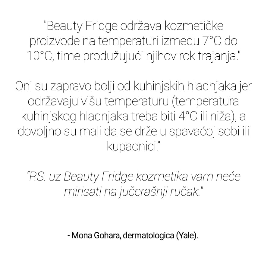 Beauty Fridge Izjava